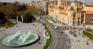 Vista aérea de la Plaza de Zorrilla