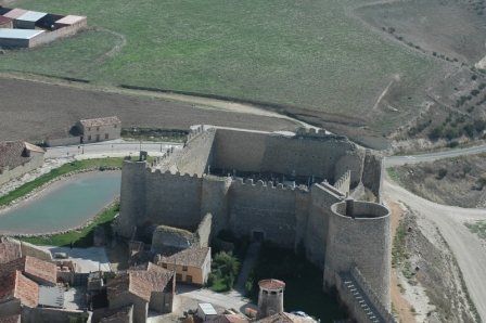 Vista aérea del Castillo de Urueña