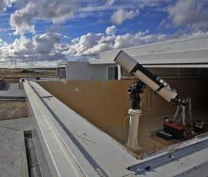 Telescopio del Centro Astronómico de Tiedra