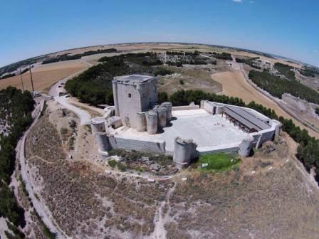 Vista aérea Castillo de Íscar